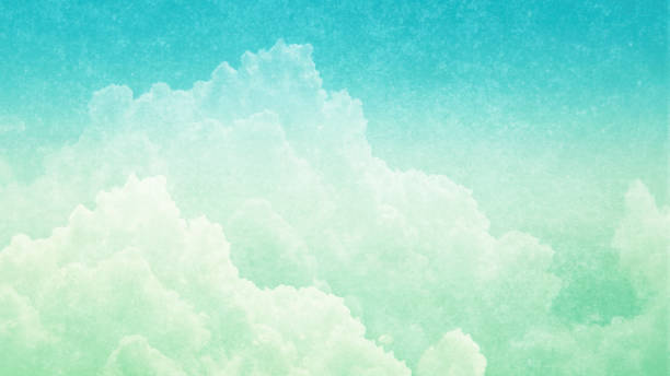 Cloudscape Photograph - Abstract background of cumulus clouds - copy space stock photo