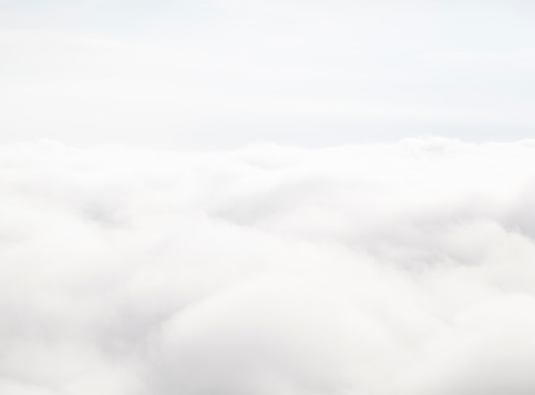 Clouds from above at 30000 feet