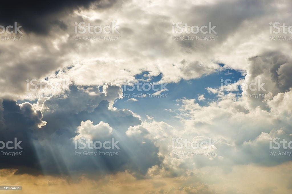 Panorama di nuvole foto stock royalty-free