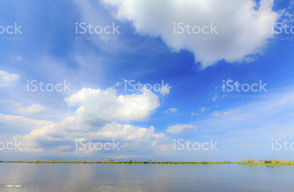 Cloudscape profiled on blue sky royalty-free stock photo