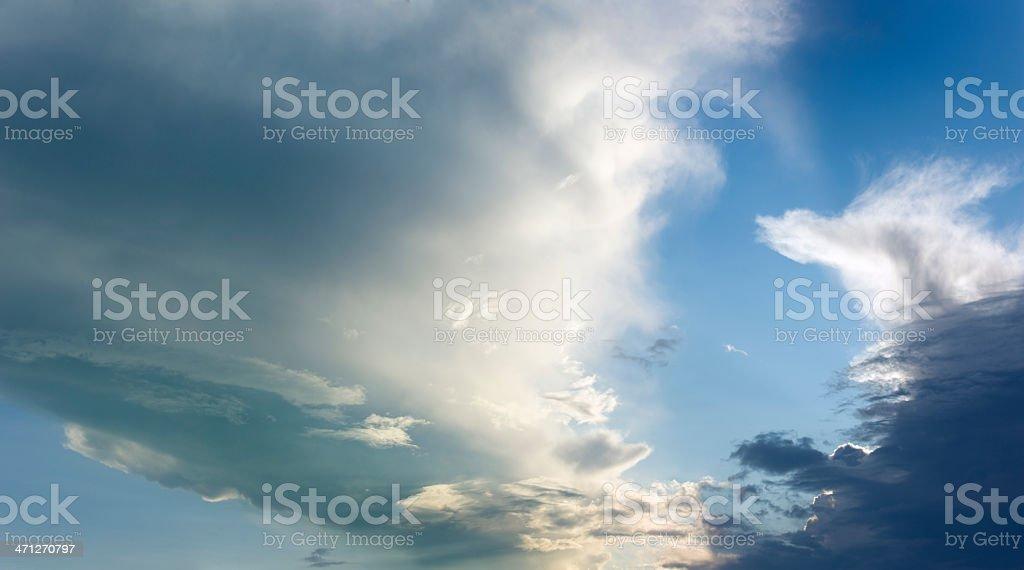 Cloudscape Storm is coming (image size XXXL) stock photo