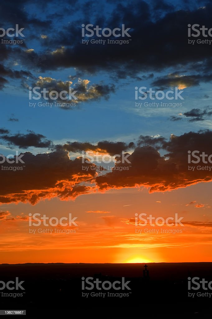Cloudscape Sunset Sky royalty-free stock photo
