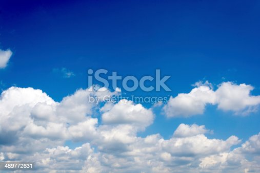 istock Cloudscape with blank space 489772631