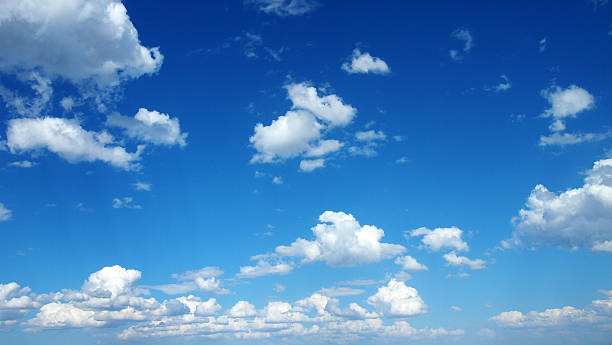 cloudscape with blue sky - cloudscape stock photos and pictures