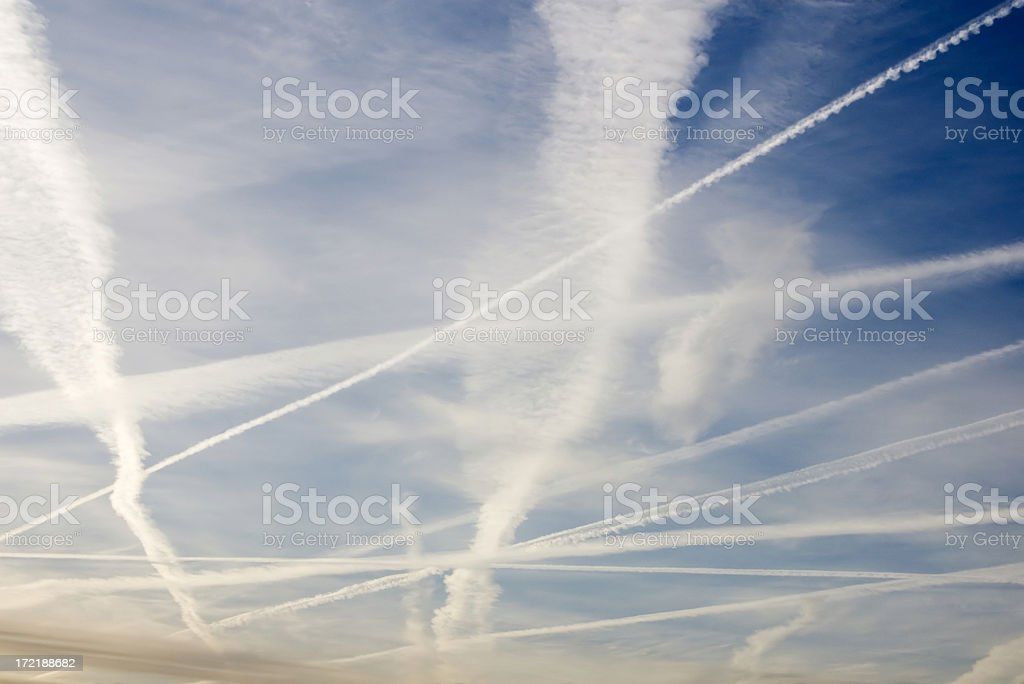 Cloudscape with Condense Stripes royalty-free stock photo
