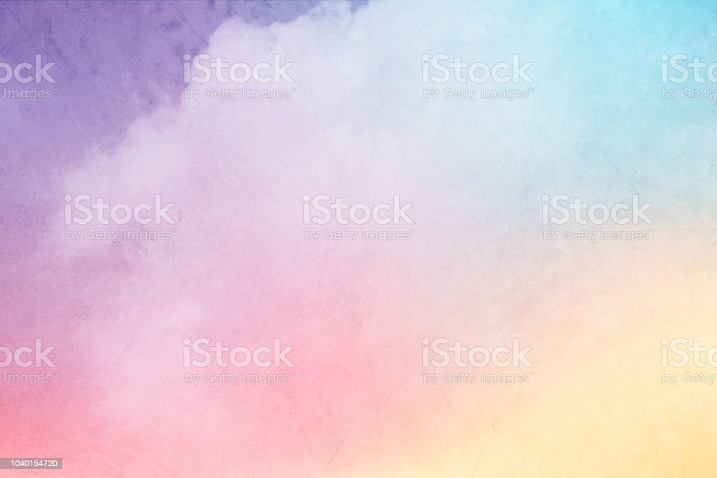 f02e8dfcfb Cloudscape With Pastel Gradient Color With Grunge Texture Nature ...