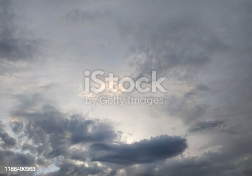 istock cloudscape with white altocumulus clouds at evening 1188490963