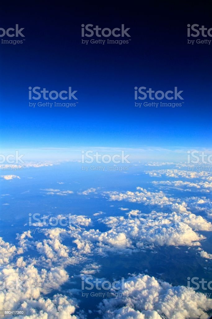 Cloudscapes from above stock photo