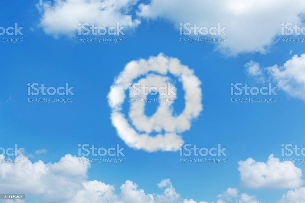 Notions de message texte nuage ciel d'écriture - Photo
