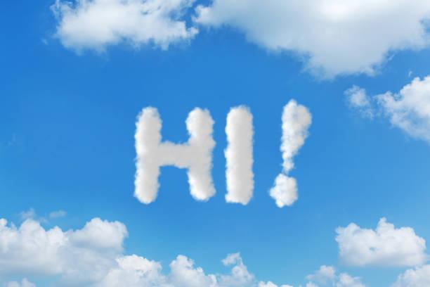 wolke-himmel text nachricht konzepte schreiben - schrift am himmel stock-fotos und bilder