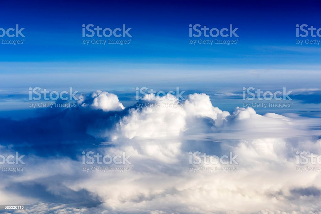 Cloudspace from airplane stock photo