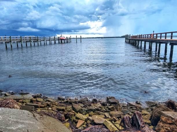 Cloudy Afternoon Coastal Florida stock photo