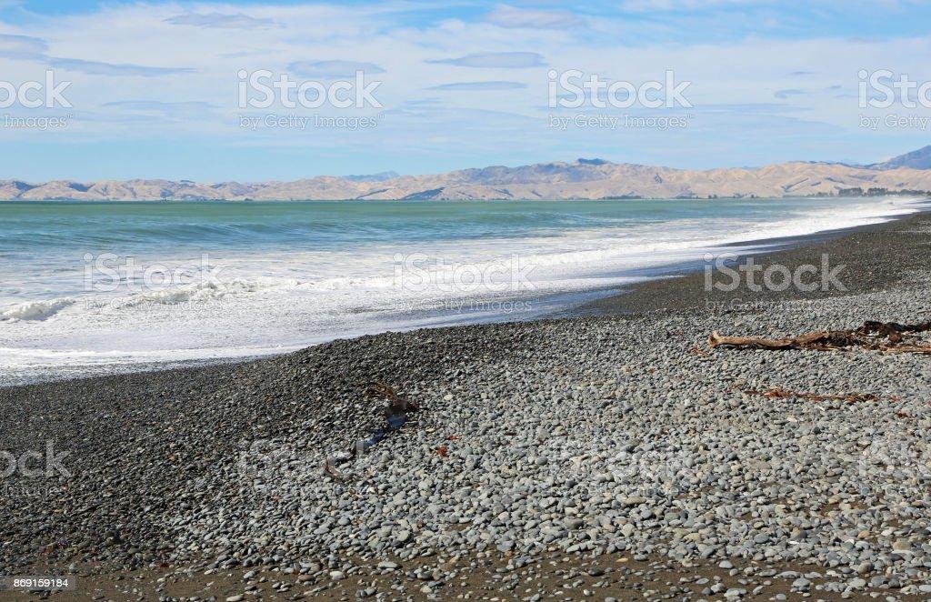 Cloudy Bay stock photo