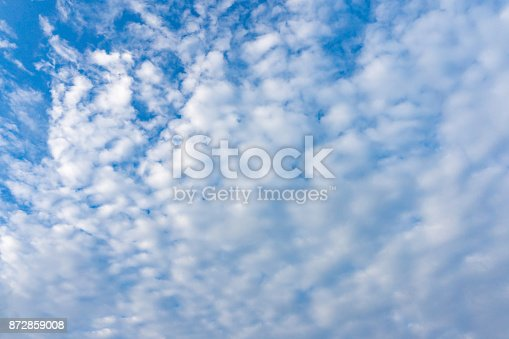 istock Cloudy blue sky and alto-cumulus 872859008