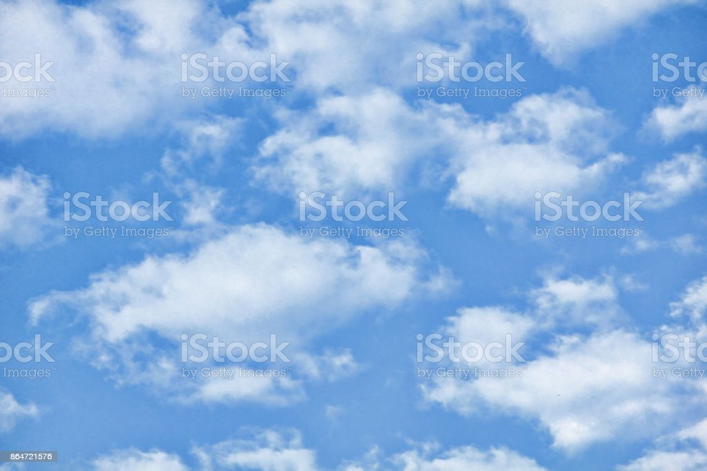 Cloudy blue sky as abstract nature background. stock photo
