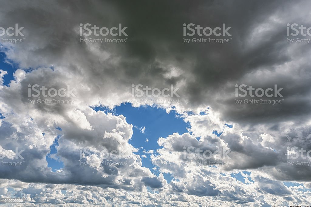 Cloudy Blue Sky Background Copy Paste Space Stock Photo Download
