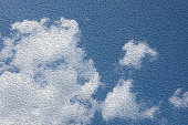 Oil painting technic color on the cloudy blue sky image background.