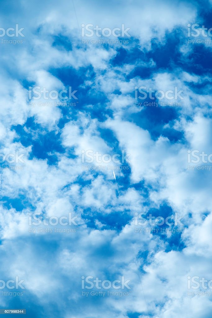 Cloudy Blue Sky stock photo