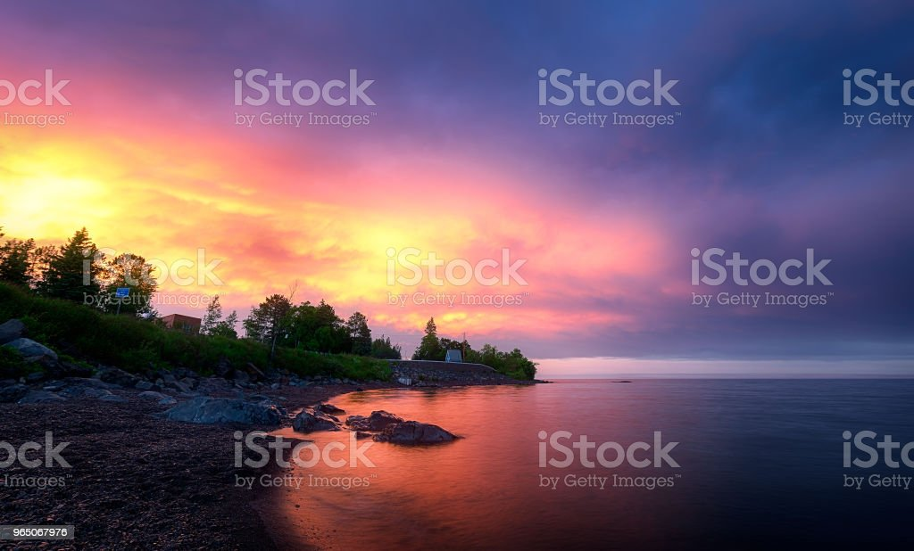 Cloudy Day at Canal Park Duluth Minnesota royalty-free stock photo
