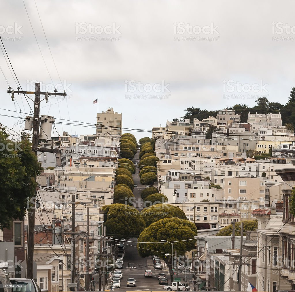 Cloudy day in San Fransisco royalty-free stock photo