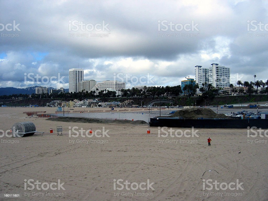Cloudy Day in Santa Monica royalty-free stock photo