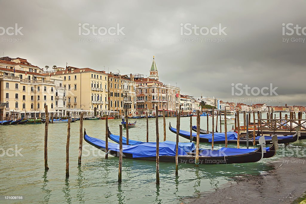 Cloudy day in Venice royalty-free stock photo