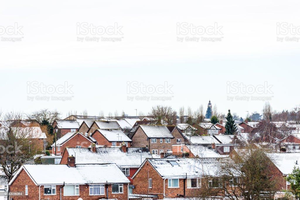 Nublado Día Invierno Vista De Fila Del Típico Inglés