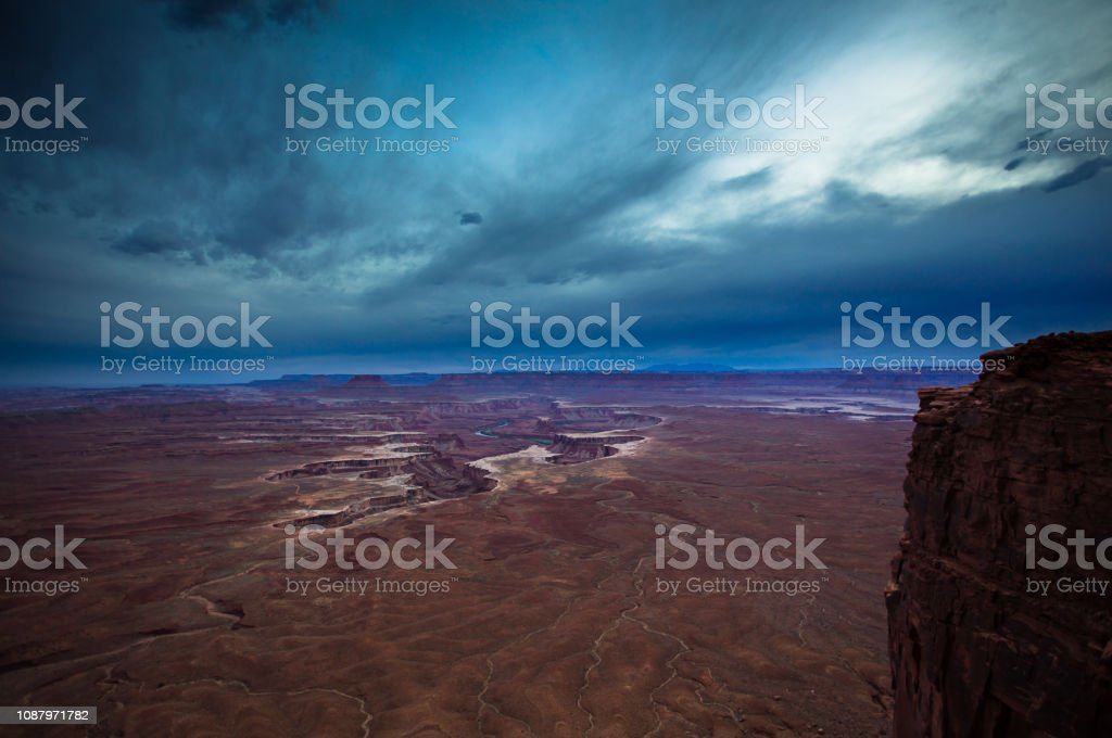 Cloudy Evening in Canyonlands National Park stock photo