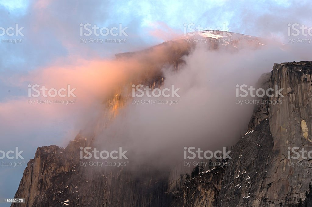 Cloudy Half Dome stock photo