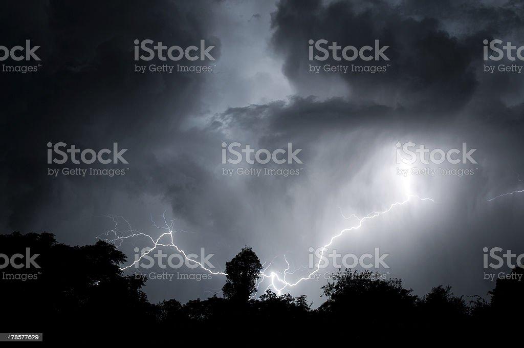 Cloudy Lightning royalty-free stock photo