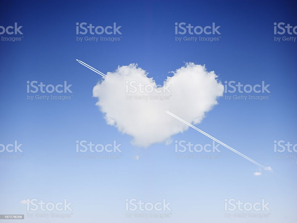 Cloudy love royalty-free stock photo
