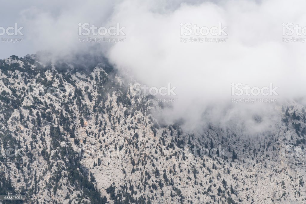 Cloudy mountain royalty-free stock photo