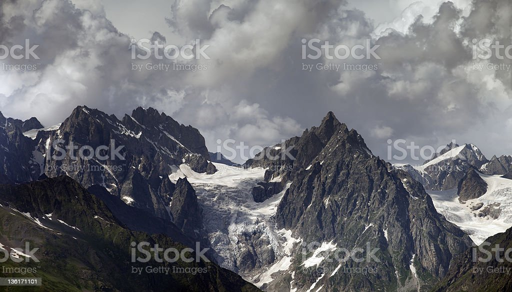 Cloudy Mountains royalty-free stock photo