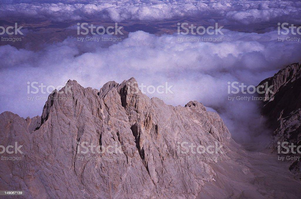 Cloudy Peak stock photo