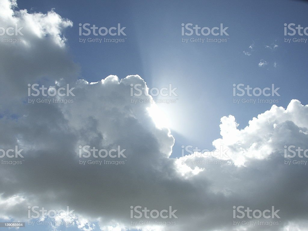 Cloudy royalty-free stock photo