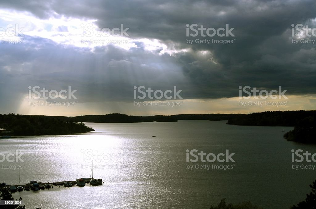Cloudy royalty free stockfoto