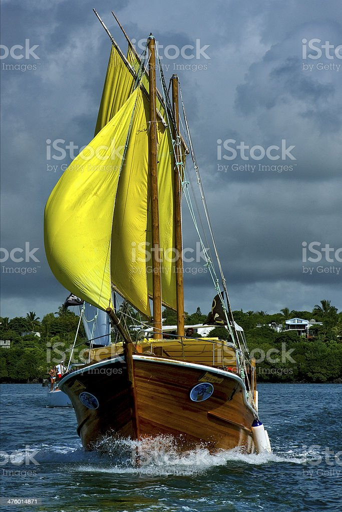 cloudy  pirate  and coastline in mauritius royalty-free stock photo