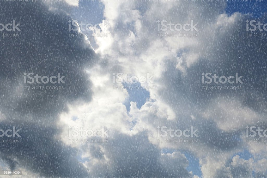 cloudy rainy blue sky and sunlight background #2 stock photo