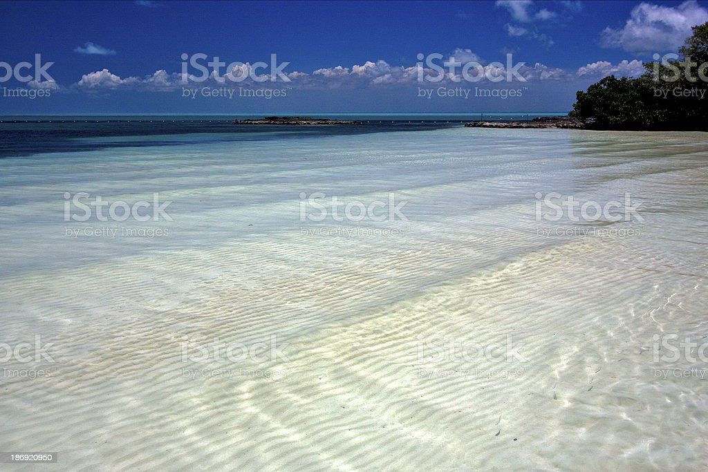 cloudy  relax and coastline in the caraibbien blue lagoon stock photo