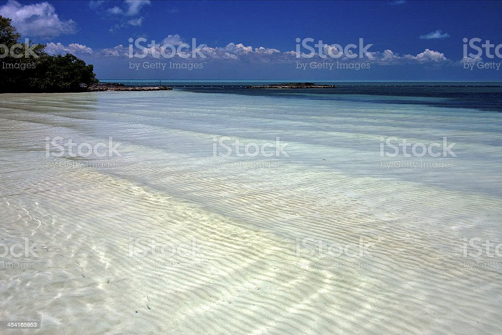 cloudy  relax and coastline in the caraibbien stock photo