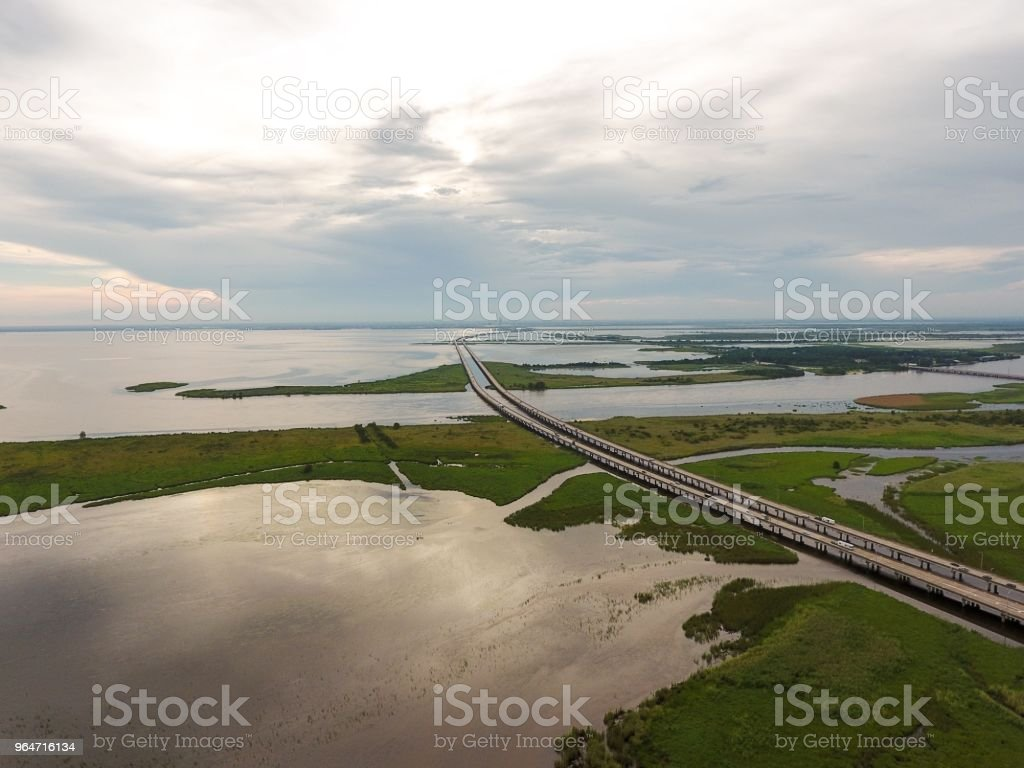 Cloudy skies on the bay royalty-free stock photo