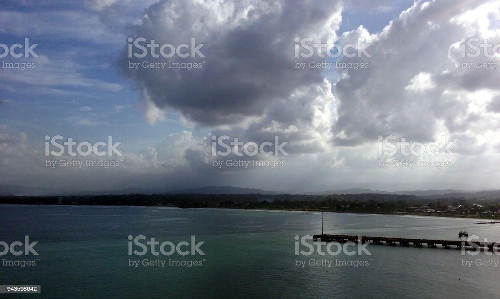 A Cloudy Sky Above Costa Rica stock photo