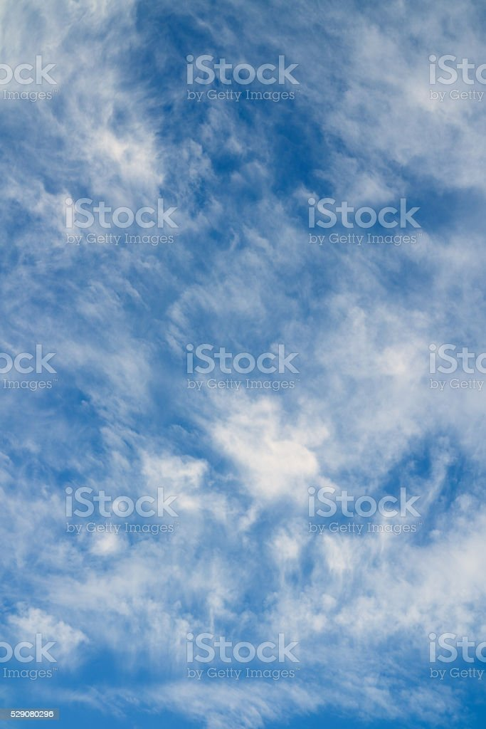 Cloudy sky background. stock photo