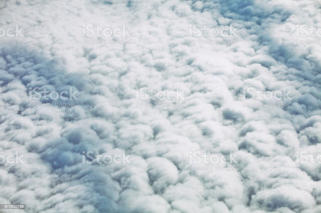 cloudy sky from the airplane stock photo
