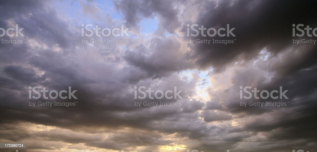 Cloudy sky in Arizona stock photo