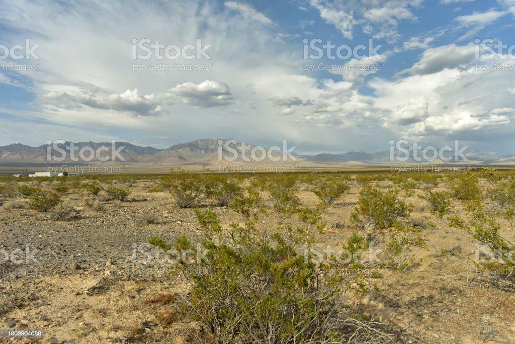 モハーベ砂漠の渓谷と米国ネバダ...