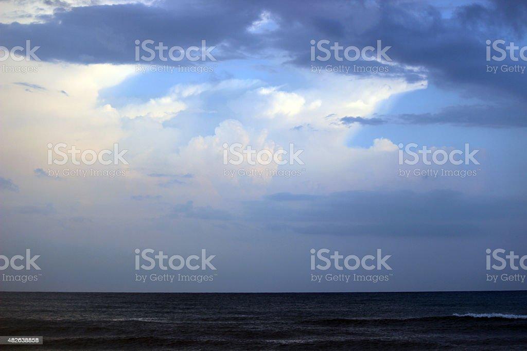 Cloudy Sky Over the Atlantic Ocean stock photo