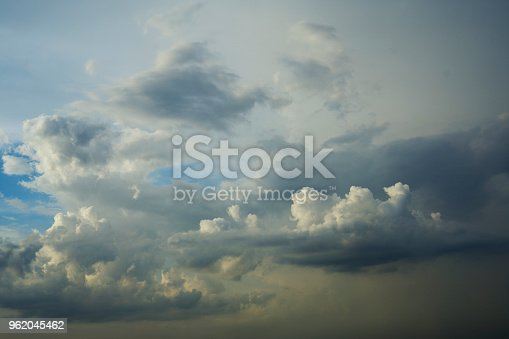 516351793 istock photo Cloudy sky Overcast - Going to rain 962045462