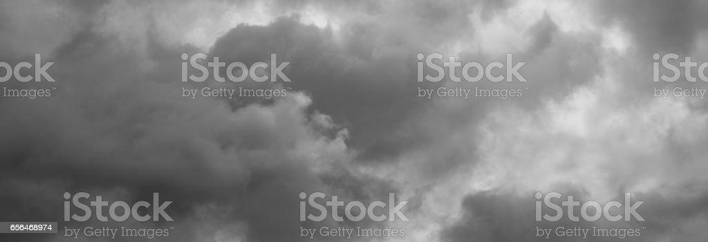 Cloudy sky panorama. stock photo