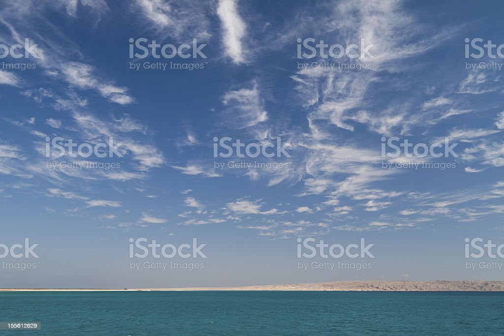 Cloudy sky. stock photo